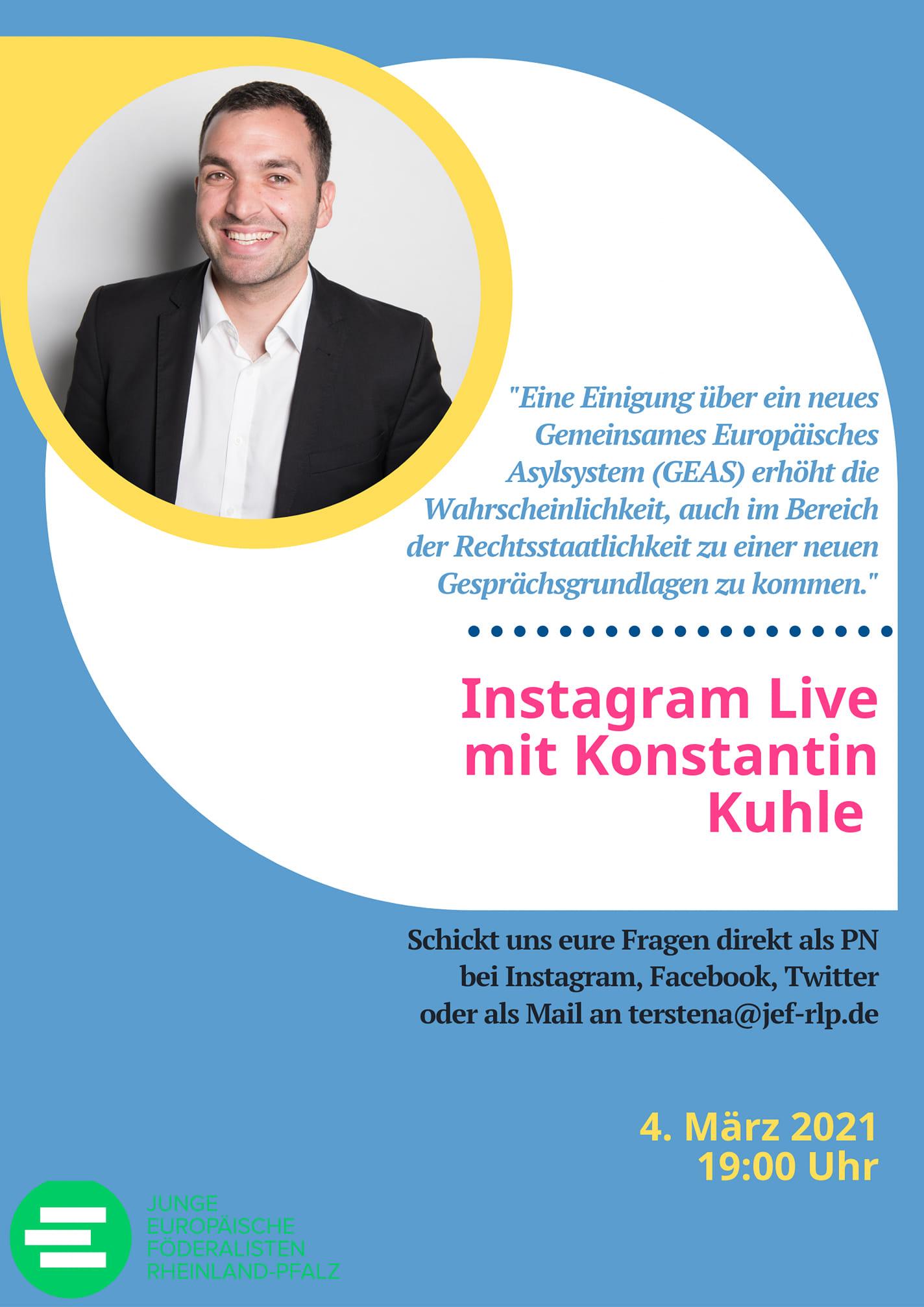 Instagram Live Konstantin Kuhle